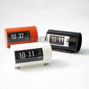 twemco retro modern germany quartz movement alarm flip clock ap28. Black Bedroom Furniture Sets. Home Design Ideas