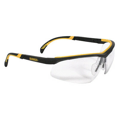 Dewalt Dpg55-11d Clear Anti-fog Protective Safety Glasses Rubber Frame Temples