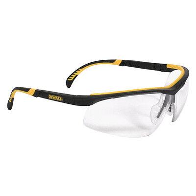 Dewalt Dpg55-11d Clear Anti-fog Protective Safety Glasses Rubber Frame Temples
