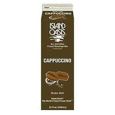 Island Oasis Cappuccino Flavored Frozen Beverage Mix 32 Fl.oz 12 Per Case