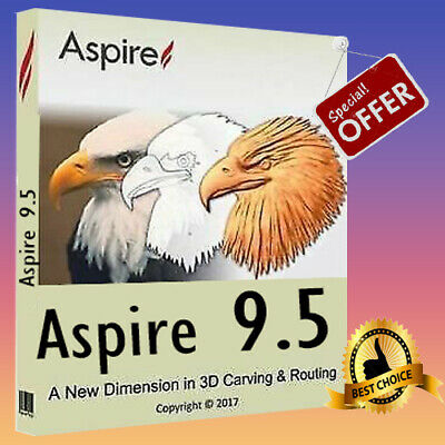 Vectric Aspire 9.514 + Clip Art Bonus 🔥 Windows (64 bit) 👜 Fast Delivery 📥