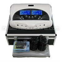 Dual ionic detox spa system with carrying case and two lcd scree
