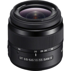 TWO Sony A-Mount Lenses & UV filters: Sony DT 18-55mm f/3.5-5.6