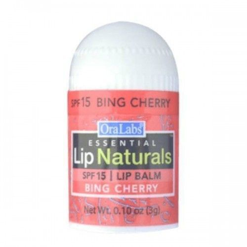 SPF 15 Bing Cherry Ora Labs Essential Lip Naturals Lip Balm