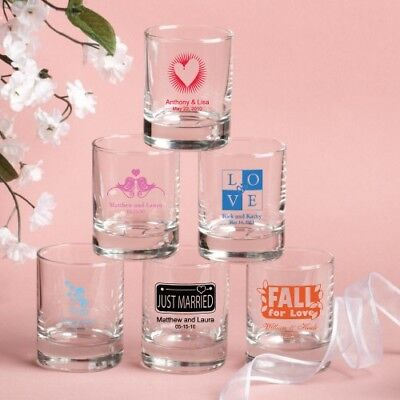 100 Personalized Shot Glasses With Gift Boxes Wedding Bridal Shower Party Favor