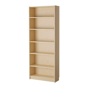 5 different Ikea Billy Bookcases Pine Shelves and Pine Bookcases