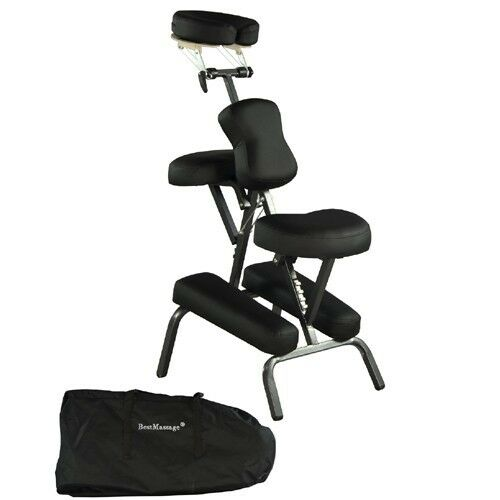 "Black Bestmassage 4"" Portable Massage Chair Tattoo Spa Fr..."