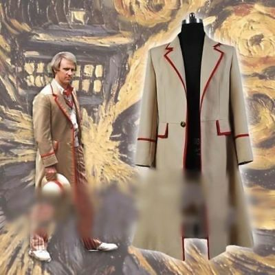 Hot! 5th Doctor Who Peter Davison JACKET Cos coat cosplay costume