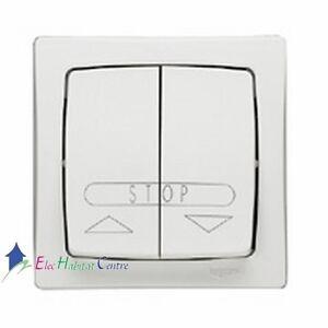 bouton poussoir volet roulant appareillage saillie complet blanc legrand 86010 ebay. Black Bedroom Furniture Sets. Home Design Ideas