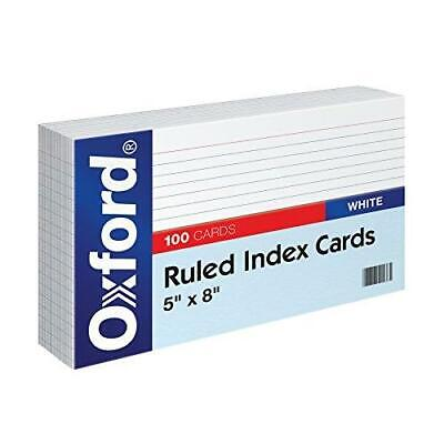 Oxford Ruled Index Cards 5 X 8 White 100pack 51