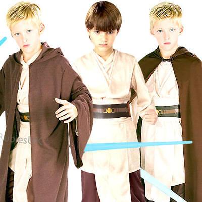 Jedi Boys Fancy Dress Star Wars Luke Skywalker Childrens Kids Costume - Boys Jedi Costume