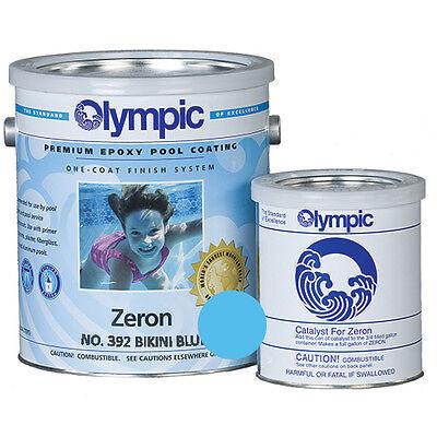 ( Olympic Zeron Epoxy Coating Bikini Blue - 1 Gallon )