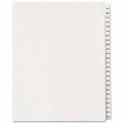 Avery Side Tab Collated Legal Index Dividers - Printed251 - 275 - 25 (ave82193)