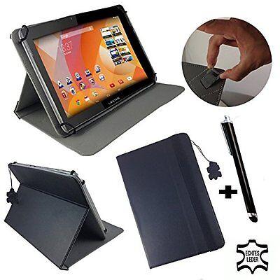 Aldi Medion Lifetab S10346 MD 98992 Tablet Tasche  - Echtleder Schwarz 10 zoll