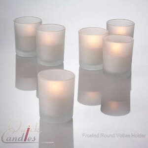 Lot of 72 Frosted Glass Votive Candle Holders