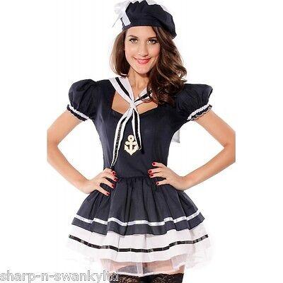 Sexy Neue Damen Marineblau Matrose Junggesellinnenabschied Halloween Kostüm