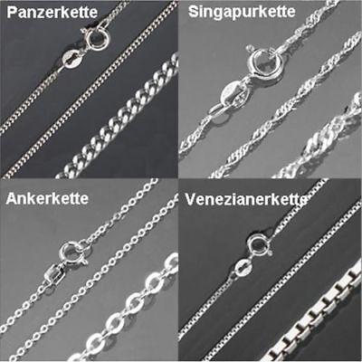 Kette Echt 925 Silber Damen Herren Kinder Schmuck Halskette Panzer günstig 518