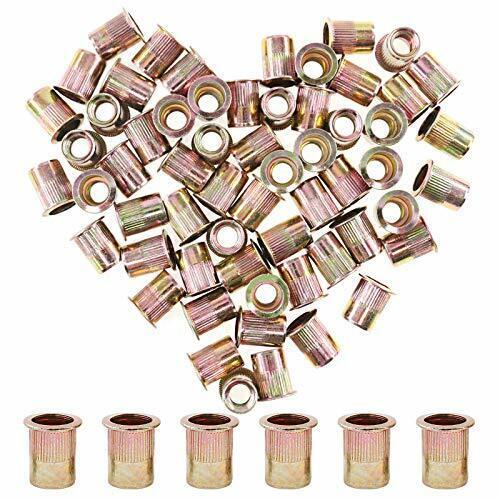60 Pcs 3/8-16 UNC Rivet Nuts Threaded Insert Nut 3/8-16 UNC Rivnut NEW