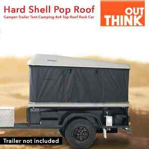 Hard Shell Pop Roof Camper Trailer Tent Camping 4x4 Top Roof Rack Car