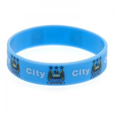 *OFFICIAL* Manchester City F.C.  Rubber WRISTBANDS (Silicone) One Size Fits All