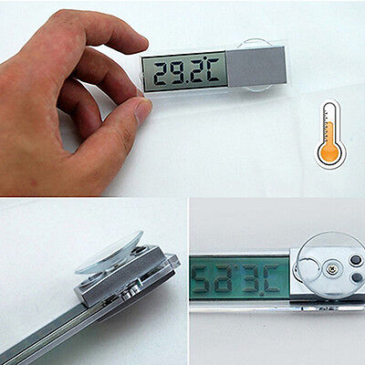 LCD Digital Temperature Meter Indoor Outdoor Suction Car Auto Thermometer Exotic