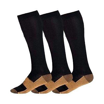 Copper Compression Socks 20-30mmHg Graduated Support Men's Women's S-XXL 3 Pairs