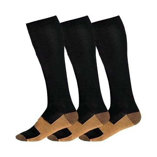 Copper Compression Socks 2030mmHg Graduated Support Mens Womens SXXL 3 Pairs