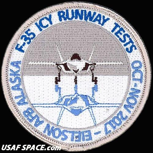 USAF 461ST FLIGHT TEST SQ -F-35 ICY RUNWAY TESTS- Edwards AFB ORIGINAL VEL PATCH