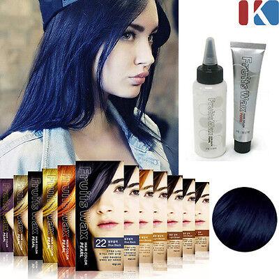 Blue Black Hair Dye - HAIR DYE Fruits Wax Hair Color Pearl #22. Blue Black / Stylish hair color change