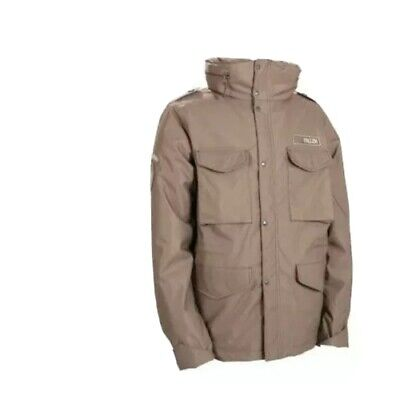 Twcx Men Warm Fleece Lined Winter Thicken Removable Hooded Quilted Down Jacket Khaki XL