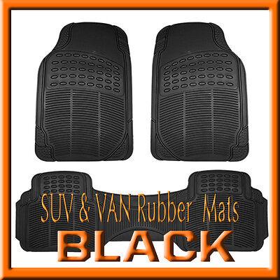 Fits MITSUBISHI ENDEAVOR ALL WEATHER SEMI CUSTOM BLACK  RUBBER FLOOR MATS / 3PCS ()