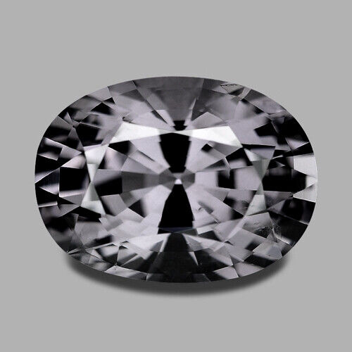 2.81CTS EXCELLENT OVAL CUT NATURAL PURPLISH GRAY SPINEL VIDEO IN DESCRIPTION