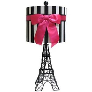 Girls Paris Theme Teen Room Dorm Decor Lamp Light Eiffel