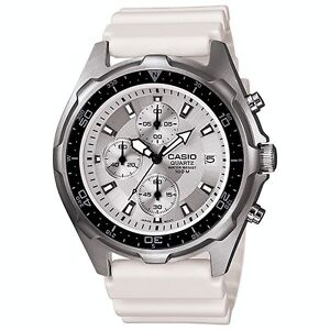 Casio AMW-380 Mens Sport Analog Watch - White- NEW  in box