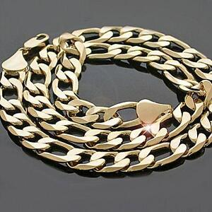"""24"""" 12mm goldfilled figaro chain. 73% OFF"""