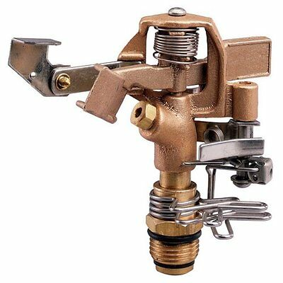 Orbit Sprinkler System 1//2-Inch Brass Impact Head with 20-40-Foot Coverage 55032
