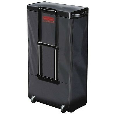 Rubbermaid 6174bla Mobile Fabric Cleaning Cart Bag 30 Gal 18 12w X 11d X 35h Bl