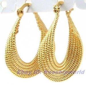 18k Solid Gold Hoop Earrings