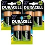 Duracell Rechargeable Batteries D