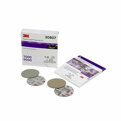 """3m 3M-30807 3"""" Trizact Hookit Foam Disc Kit, 3000 & 8000, 2 Discs/kit, 5"""