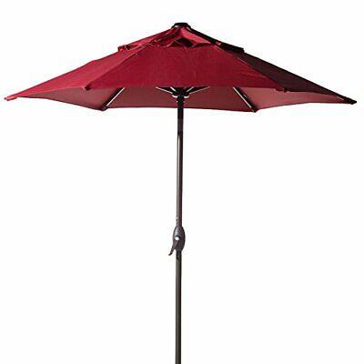 Abba Patio 7.5ft Patio Outdoor Market Table Umbrella with Push Button Tilt Crank