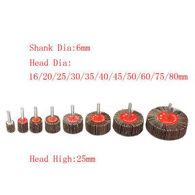 Sandpaper Flap Wheel Sanding Disc Polishing Grinding Rotary Tool 14 Shank 80