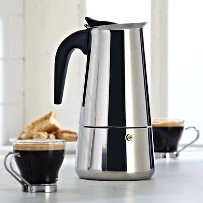 6 CUP CONTINENTAL ESPRESSO COFFEE MAKER STAINLESS STEEL PERCOLATOR STOVE POT