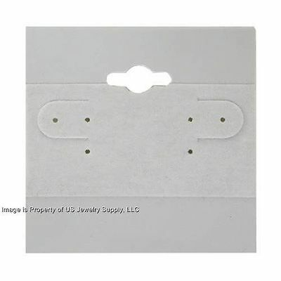 1000 Grey Hanging Earring Display Cards 2h X 2w With Lip