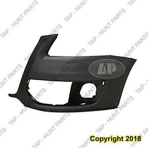 Bumper Front Driver Side Without Sensor Hole Primed-Black Without S-Line Package Audi Q5 2009-2012