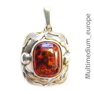 FISCHLAND Anhänger Bernstein Silber 30er Jahre art deco amber silver pendant