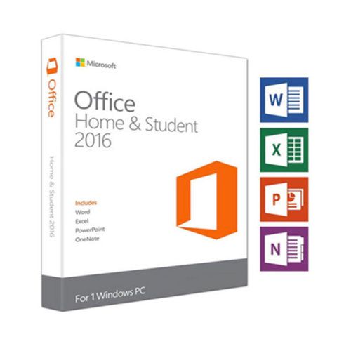 Microsoft Office Home and Student 2016 1 User PC Product Key and DVD