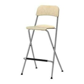 IKEA Bar Stool with back & foot rest, immaculate was £28, looking for £10 - Kentish Town
