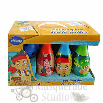 Jake and the Never Land Pirates Bowling Set Toy Gift Set For Kids Indoor Outdoor (Land Pirates)