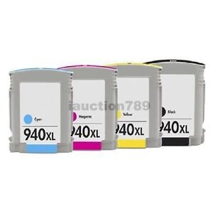 4x Ink Cartridge HP 940 XL 940XL For Officejet Pro 8000 8500 8500a Plus Printer